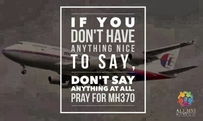 Be A Grown Up And Stop Embarrassing Your Country MH370