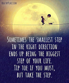 Take the smallest step in the right direction - inspirational quotes