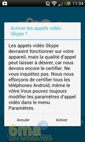 tutoriel d utilisation skype sur android telecharger skype. Black Bedroom Furniture Sets. Home Design Ideas