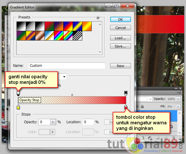 Cara membuat gradient kontras transparan di photohsop