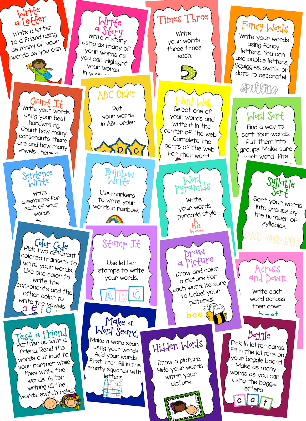 Live Laugh & Learn in Second Grade: Word Work Activities
