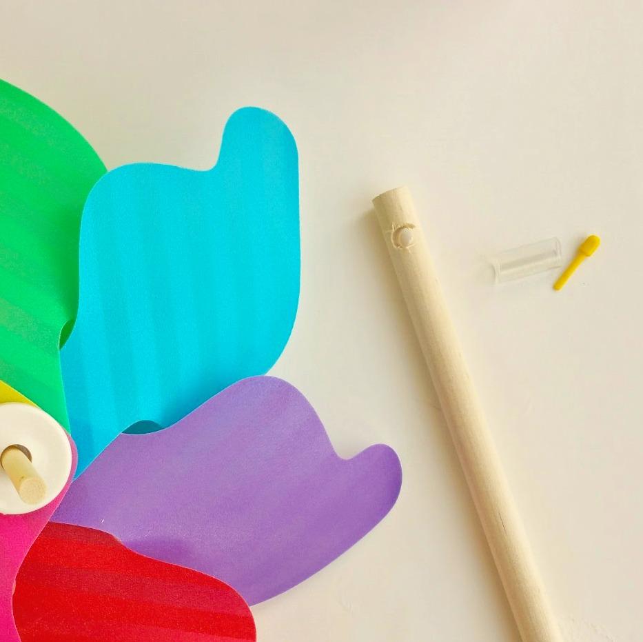 how to make a rainbow pinwheel