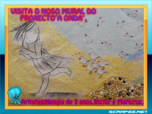 """PODEDES VISITAR O NOSO MURAL INTERDISCIPLINAR,RELACIONADO CO NOSO  PROXECTO DE AULA""""A ONDA""""..."""