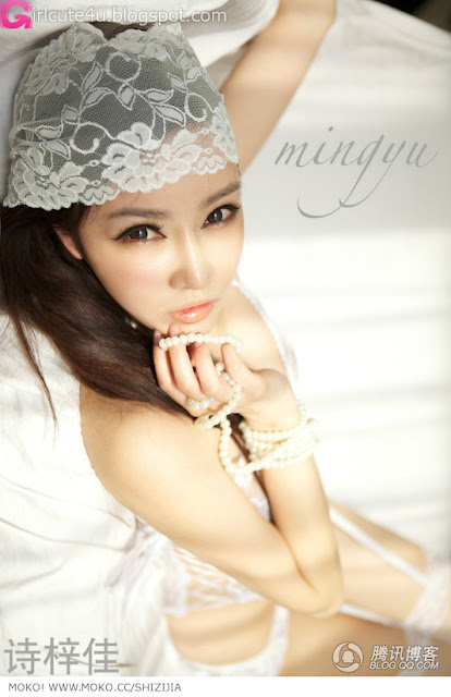 Shi-Zi-Jia-White-Lace-Merrywidow-06-very cute asian girl-girlcute4u.blogspot.com