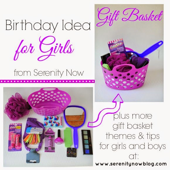 Serenity Now Gift Basket Birthday Present plus Theme Ideas for