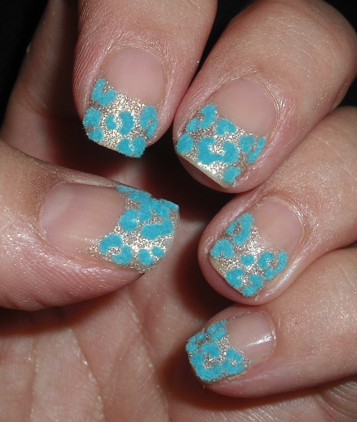 Wendy\'s Delights: Llama Nails A-Z Challenge - B is for Blue Furry Nails!
