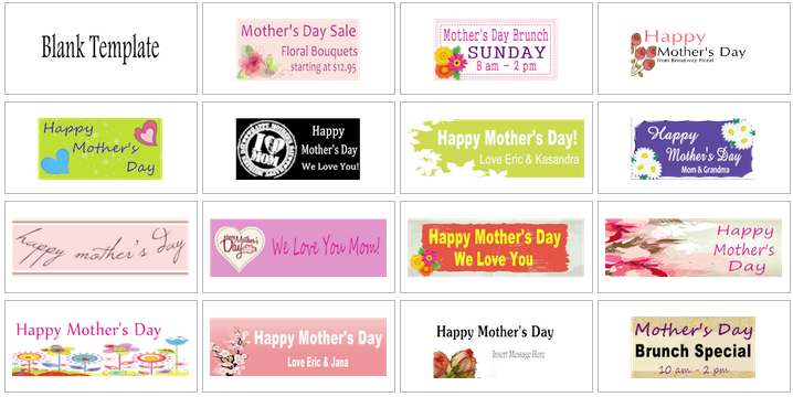 Mother's Day Banner Templates | Banners.com