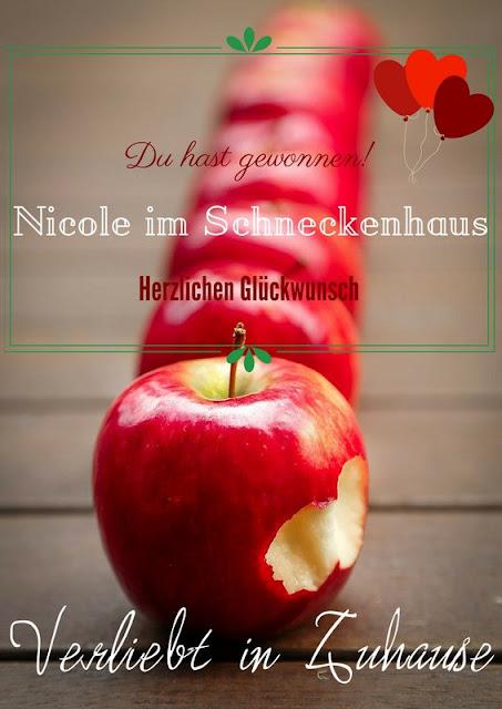 Gewonnen hat Nicole im Schneckhaus Blog