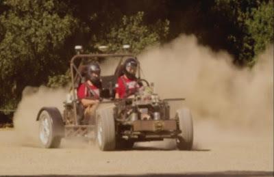 Autonomous no driver world first drifting rally car