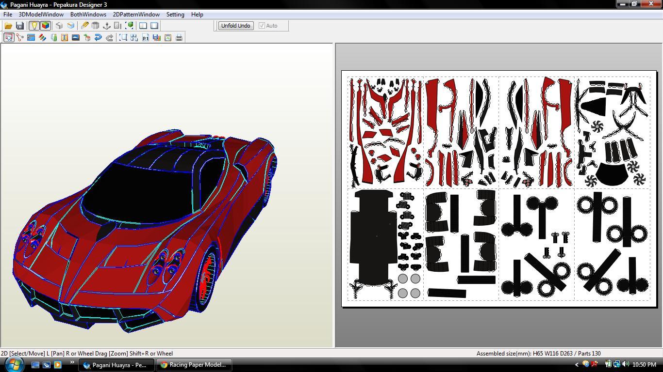 3d cars paper model templates