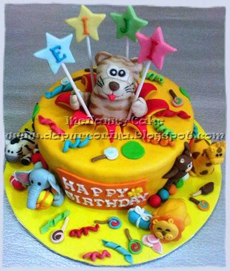 336 x 396 · 49 kB · jpeg, Kue Ulang Tahun Anak : Cute Tiger & Party  Tema Pesta Ulang Tahun
