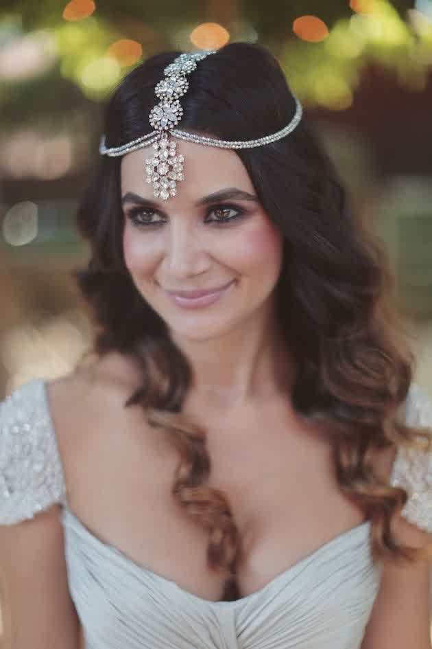 Trendy Style Long Bridal Hairstyle Headpiece