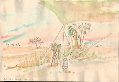 Camping in the Kalahari Desert, Botswana by Sophie Neville
