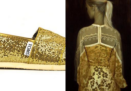 conjunto dorado vintage