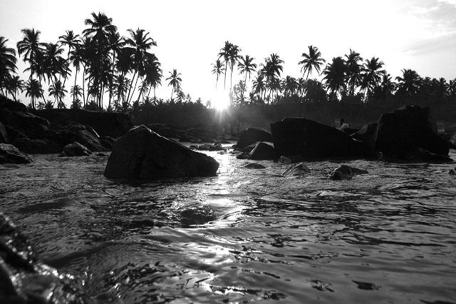 Sunrise at Vagator beach Goa