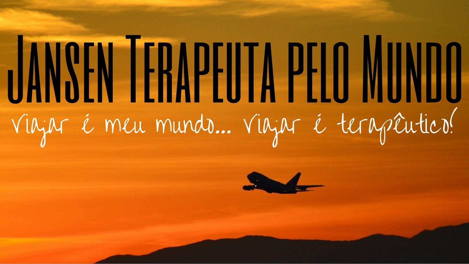 Viajar é meu mundo... Viajar é terapêutico!