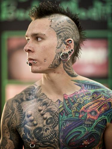 body art example tattoo full on body