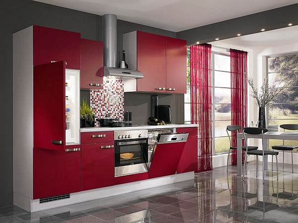 Tag Blue and red color Kitchen Designs, 2014, Housing Mania