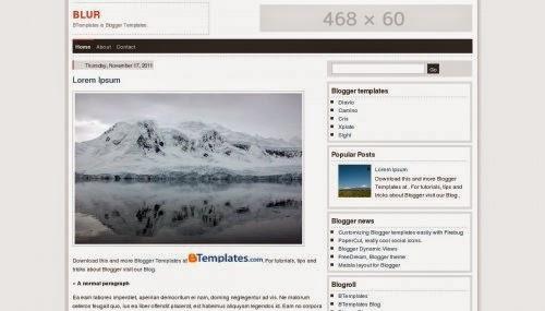 Blur - Free Blogger Template