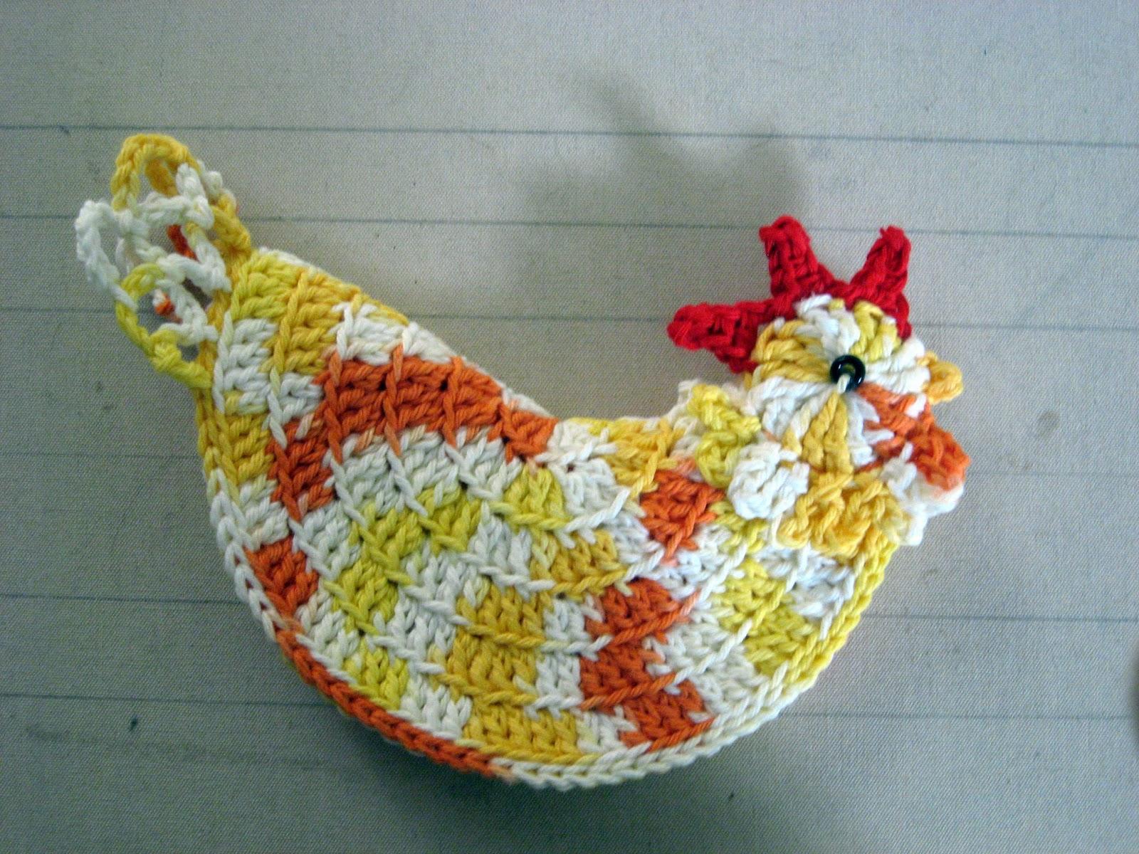 Free Crochet Pattern Rooster Pot Holder ~ Dancox for .