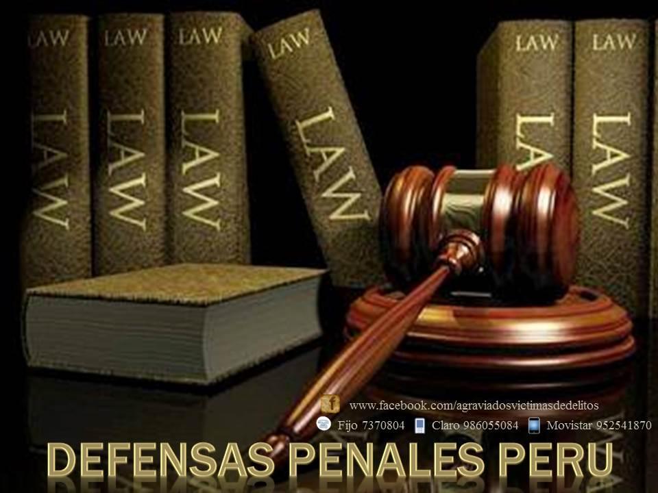 DEFENSAS PENALES, PROCESOS Y JUICIOS PENALES