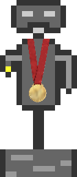 Otto wearing an Olympic medal.