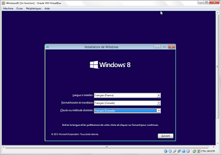 Install Windows 8 (French version)