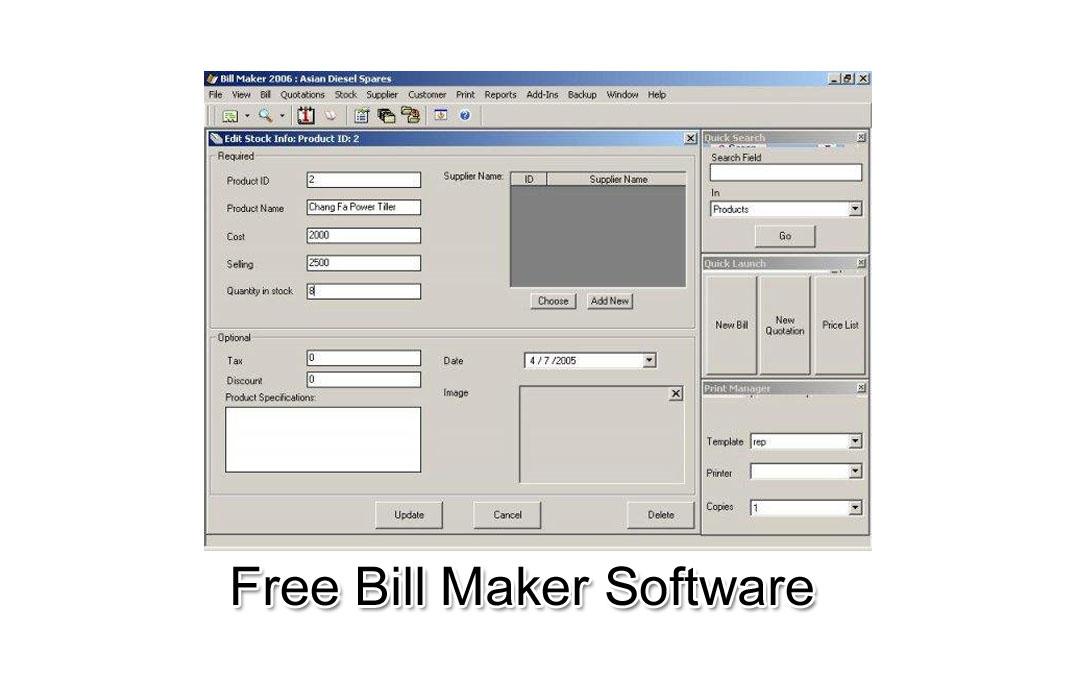bill maker 1 0 free bill maker 1 0 software download bill invice