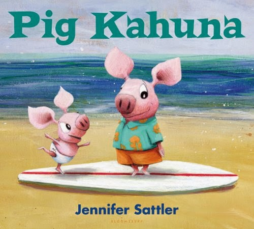 Pig Kahuna by Jennifer Sattler, included in a book review list of ocean books for preschoolers