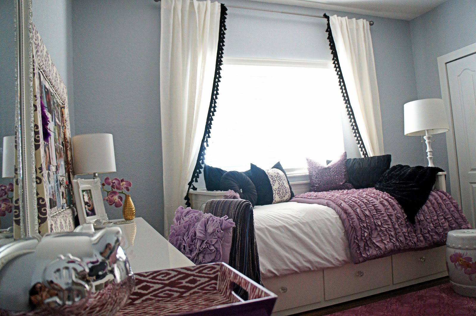 Take A Look At My DIY Pom Pom Tassel Curtains.