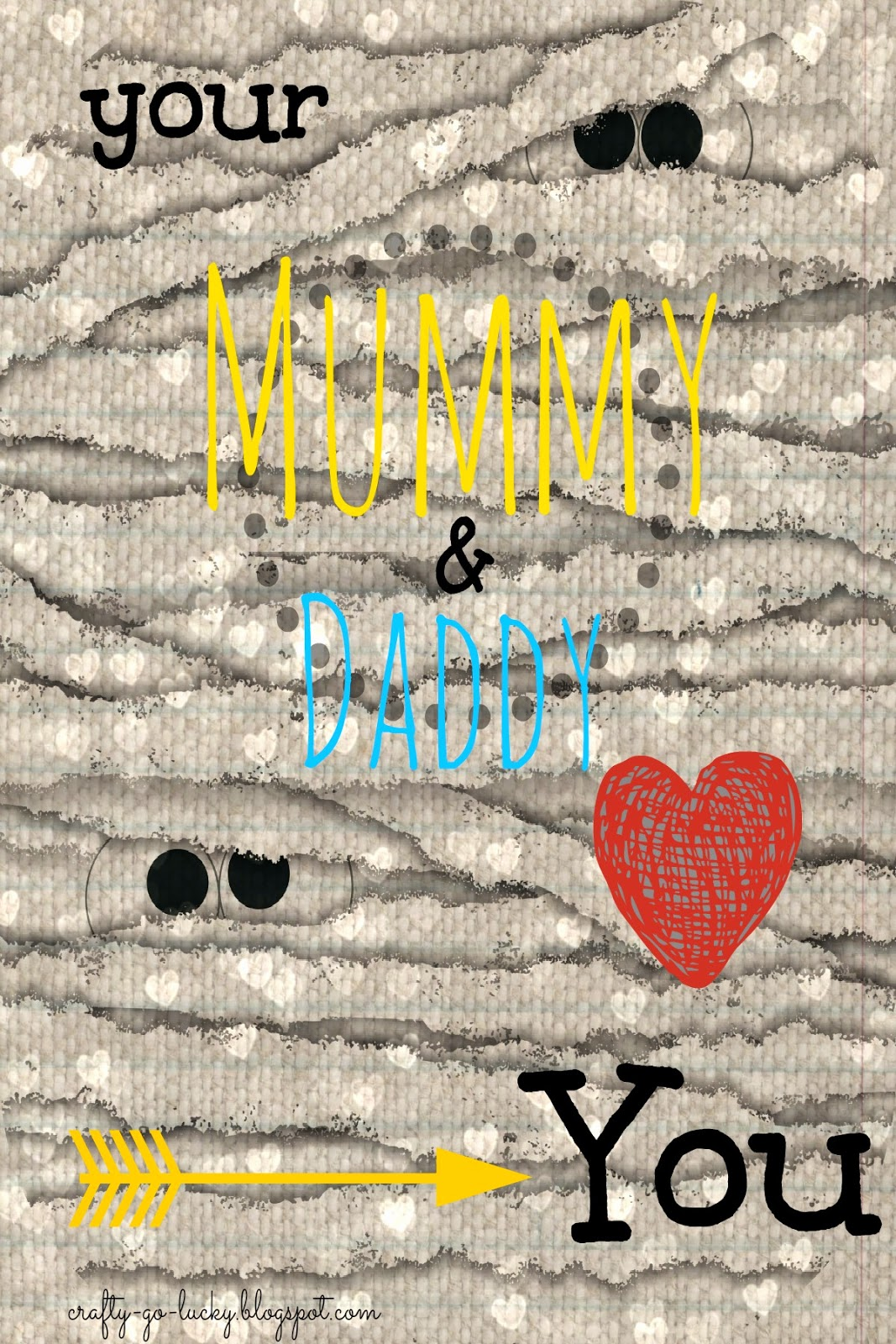 Your 'Mummy' & Daddy Love you FREE Printable Valentine!