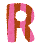 大文字R イラスト文字