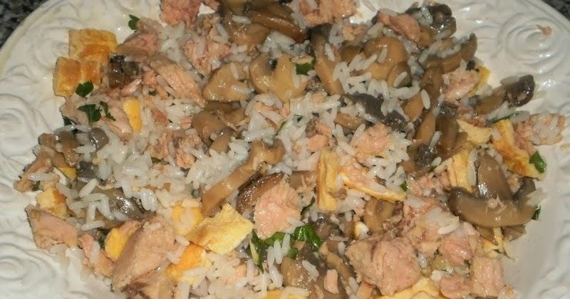 Pan frito o reban s ensalada de arroz champi ones y at n - Ensalada de arroz y atun ...