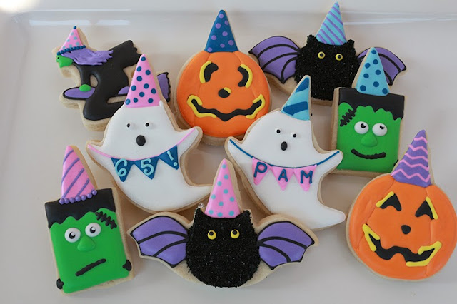 halloween-themed birthday cookies