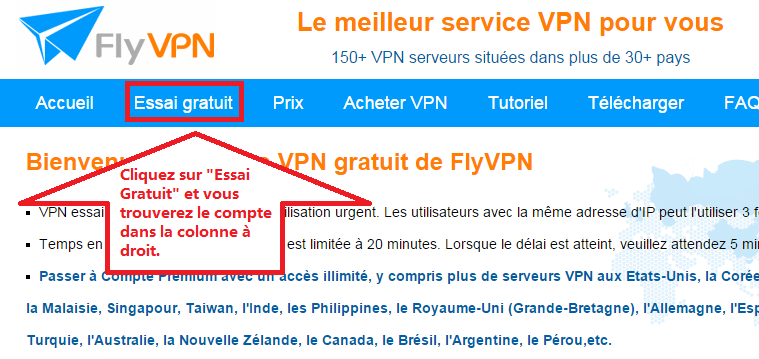 VPN Essai Gratuit FlyVPN