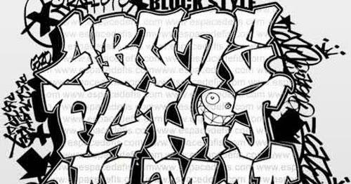 Graffiti Wall Alphabet Block Style
