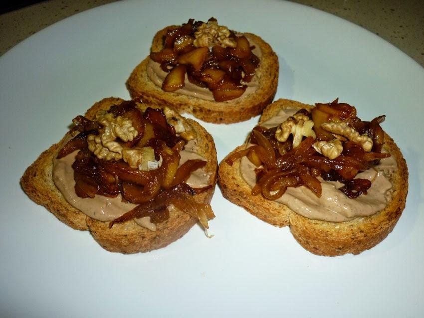 Fran chef el cocinero tosta de pat con cebolla y for Canape de pate con cebolla caramelizada