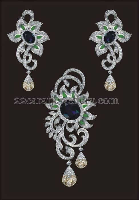 and sapphire by earrings pin shobha diamond jewel asar exclusive
