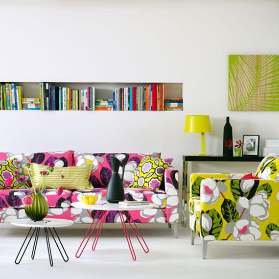 divano a fiori