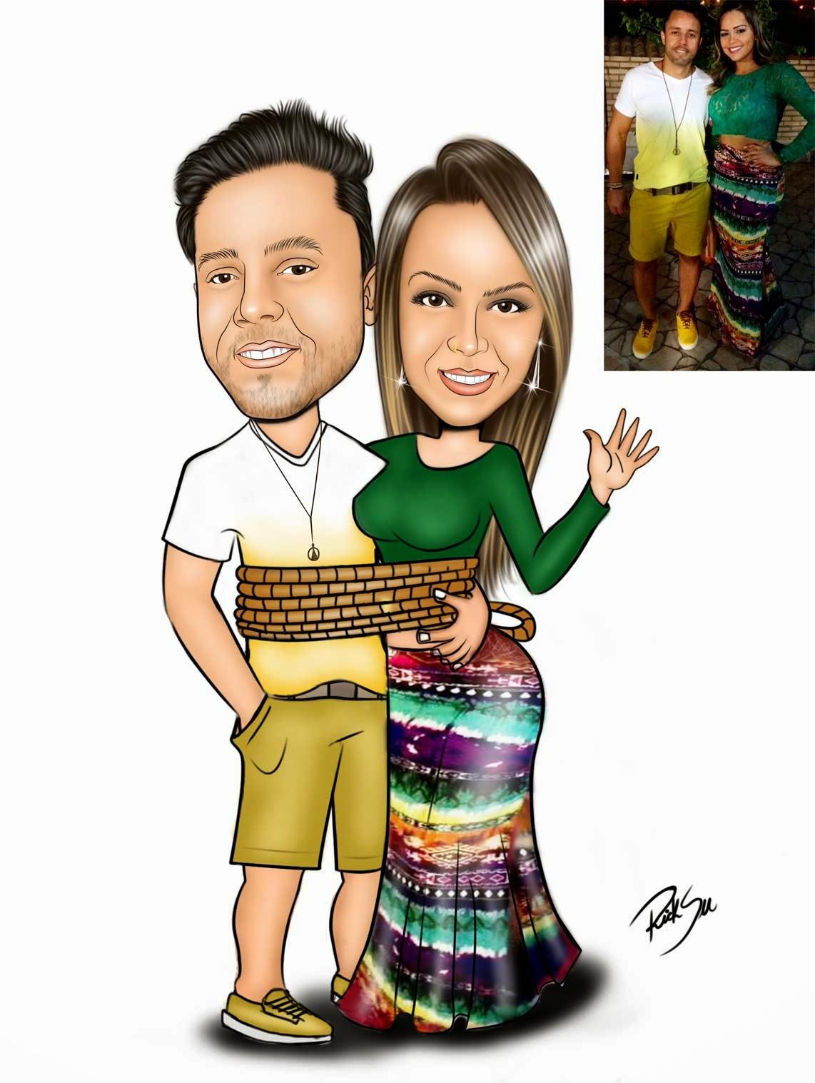 casal caricaturas