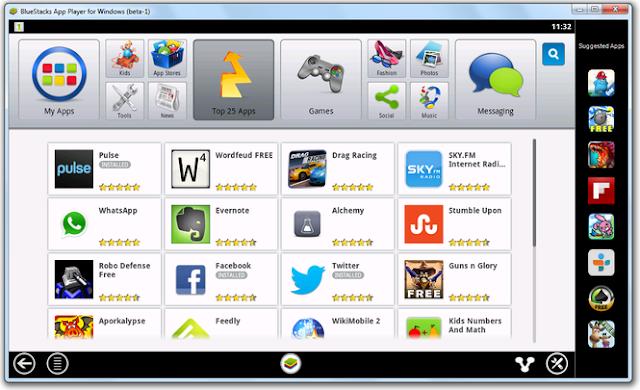 تحميل برنامج تشغيل العاب وتطبيقات الهواتف الذكية على الكمبيوتر مجاناً 0.7.18 BlueStacks Play