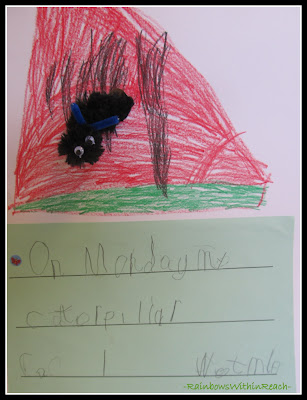 photo of: Kindergarten Writing on &quot;Very Hungry Caterpillar (via RainbowsWithinReach) 