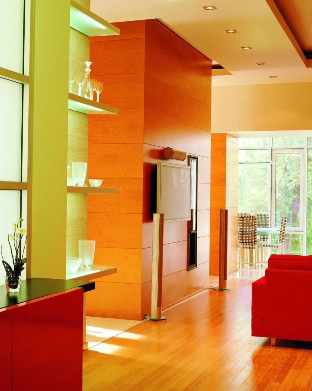 Eye for design citrus colored interiors for Interior wall design