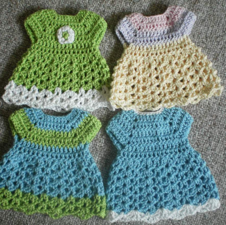 Free Crochet Preemie Baby Dress Patterns : The Left Side of Crochet