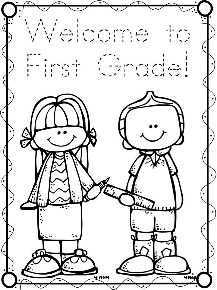 A teeny tiny teacher for Kindergarten coloring page