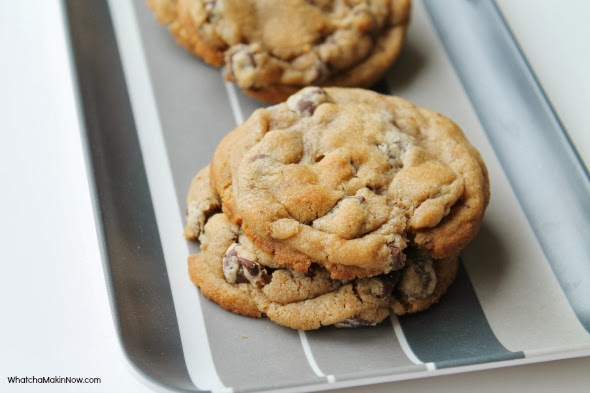 Soft and Chewy Chocolate Chip Cookies - Recipe uses cornstarch and dark brown sugar