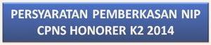 Persyaratan Pemberkasan NIP Untuk CPNS Honorer K2