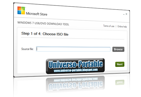 Universo portable windows 7 usb dvd download tool for Windows 7 portable