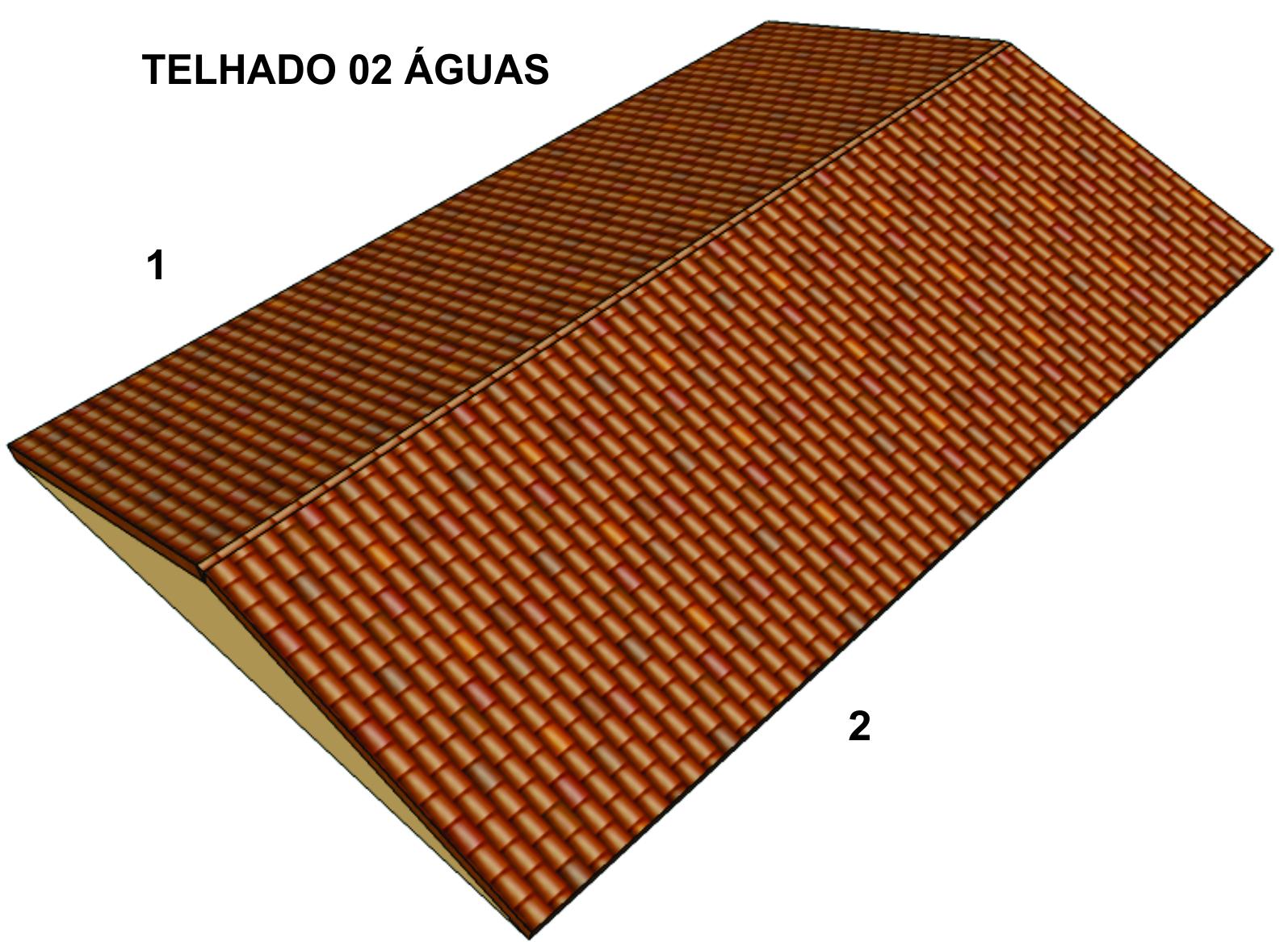 Telhado 03 águas: a chuva que cai sobre o telhado corre para três  #A45027 1595x1167