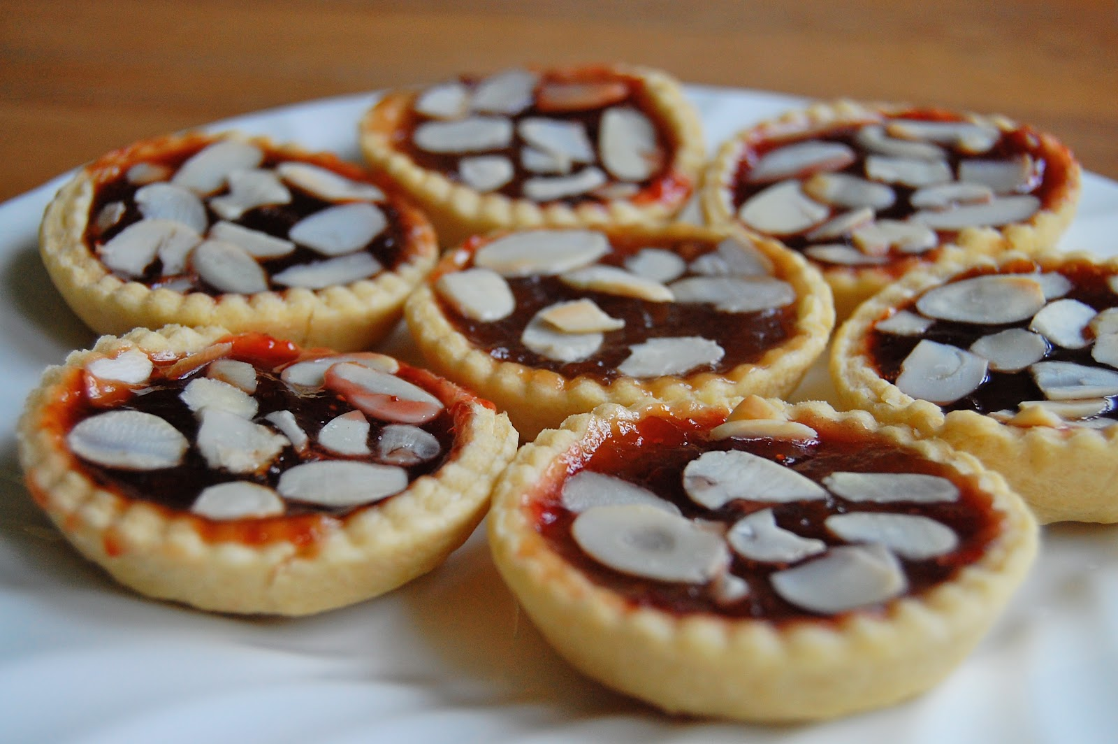 The humble jam tart baking from my bedside table for Easy jam tarts ready made pastry